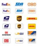 Logoer för leveransföretag stock illustrationer