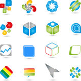 Logoer samling, multimedia, service Arkivfoto