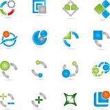 Logoer samling, service, IT Arkivbild
