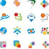 Logoer samling, service, IT Arkivfoton