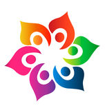 logofolk tillsammans Royaltyfria Bilder
