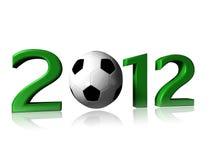 logofotboll 2012 Royaltyfria Foton