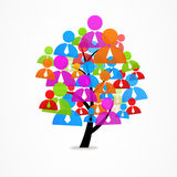 Logogeschäftszusammenfassungsbaum-Ikonenmann Stockfotos