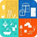 Logohaus gestalten um Lizenzfreie Stockfotografie