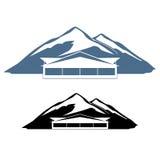 Logohotel in den Bergen Stockfotografie
