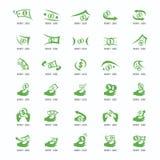 Logohundelogo Sammlung tier schriftkegel Freeform Symbol Abstra stock abbildung
