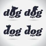 Logohundelogo Sammlung tier schriftkegel Freeform Symbol Auszug Auch im corel abgehobenen Betrag Auf weißem Hintergrund lizenzfreie abbildung