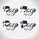 Logohundelogo Sammlung tier schriftkegel Symbol stock abbildung