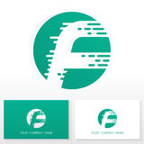 Logoikonendesign-Schablonenelemente des Buchstaben F - Illustration Lizenzfreie Stockbilder