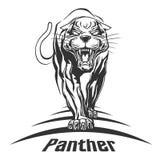 Logoillustration för svart panter Stock Illustrationer