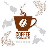 LogoKaffeetasse für Ihr Design Lizenzfreie Stockfotos