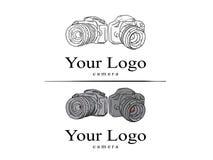Logokamera vektor illustrationer