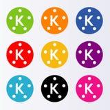 logoKine förlage stock illustrationer