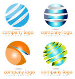 Logokonzept des Bereichs 3D Stockbilder