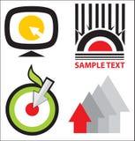 Logomallsamling Arkivfoto