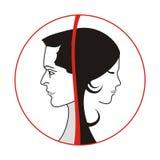 logomankvinna Arkivbild