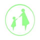Logomutter und -kind Stockfotos