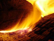 LOGON-Feuer Lizenzfreies Stockfoto