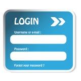 LOGON-Formular Lizenzfreie Stockbilder