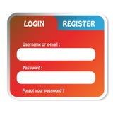 LOGON-Formular Lizenzfreies Stockbild