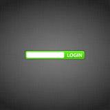 LOGON-Formular auf der Web site lizenzfreie abbildung