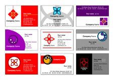 logonamecardsvektor Royaltyfria Bilder