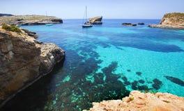 Logoon azul de Malta Fotos de Stock Royalty Free
