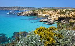 Logoon azul de Malta Fotografia de Stock Royalty Free