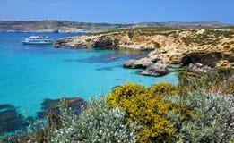 Logoon blu di Malta Fotografia Stock Libera da Diritti