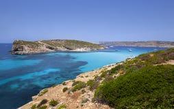 Logoon blu di Malta Fotografie Stock Libere da Diritti
