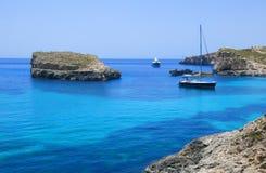 Logoon blu di Malta Fotografie Stock