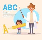 Logopedistvector beeldverhaal Stock Afbeelding