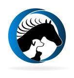 Logopferdehund und -katze lizenzfreie abbildung