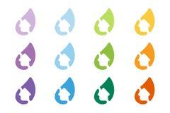 Logoplate för vektor för Gren hushem Arkivfoton