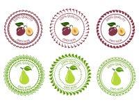 Logoplommon och päron Royaltyfri Foto