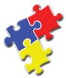 logopussel för 2 företag Fotografering för Bildbyråer