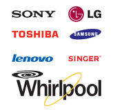 Logos électroniques de renommée mondiale de marque Photos stock
