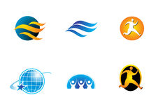 Company logos with motion. A series of company logos with motion and moving people Stock Image