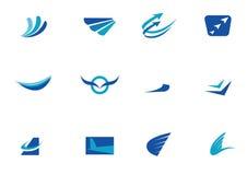Blue company logos Royalty Free Stock Photo