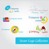Logos. Vector logo collection Modern company logos Royalty Free Stock Photography