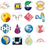Logos. Various logos, signs and commercial illustrations Royalty Free Stock Images