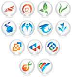 Logos. To go with your company name stock illustration