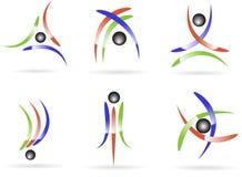 Logos. Set of logos to shine Stock Photos