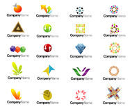 Company logo set Royalty Free Stock Image
