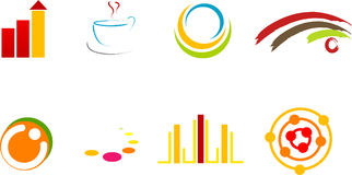 Logos. Color logos and illustration Royalty Free Stock Images
