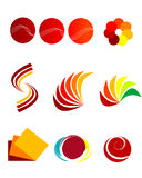 Logos. Colorful logos and vector illustration Royalty Free Stock Image