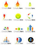 Set of colorful modern business logos Stock Images