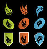 Logos. Set of sport basketball icons Royalty Free Stock Image