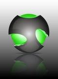 Logos abstraits de la sphère 3d Photographie stock libre de droits