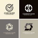Logos astratto del cerchio della lista di controllo Fotografie Stock Libere da Diritti
